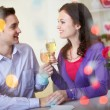 Celebrating Valentine day — Stock Photo #10734764