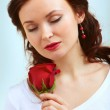 Smell of rose — Stock Photo #10734801