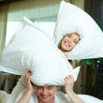 Pillow play — Stock Photo