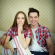 Постер, плакат: Watching TV program