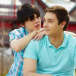 Gay couple - Stock Photo