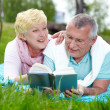 Reading on the lawn — Stock Photo #10735107