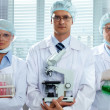 Stock Photo: Serious scientists
