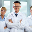 Team of scientists — Stock Photo