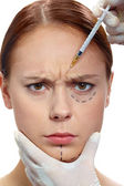 Anti-wrinkle injection — Stock Photo
