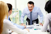 Angry boss — Stock Photo