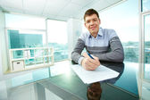 White collar worker — Stock Photo