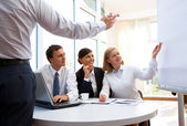 Businesspeople at meeting — Stock Photo