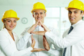 House constructors — Stock Photo