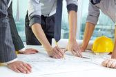 El trabajo en equipo del arquitecto — Foto de Stock