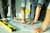 Architects at work — Stock Photo