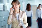 Telephone consultation — Stock Photo