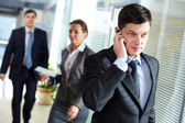 Businessman calling — Stock Photo