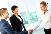 Confident handshake — Stock Photo