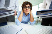 Accounting reports period — Stock Photo