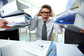 Shocked bookkeeper — Stock Photo