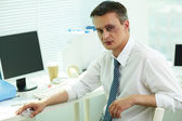 Businessman with bruise — Stock Photo