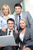 A confident business team — Stock Photo