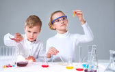 Keen chemists — Stock Photo