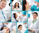Dentysta i pacjenta — Zdjęcie stockowe