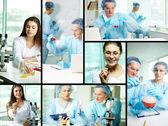 Studying new substances — Stock Photo