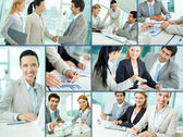 Business team at work — Stock Photo