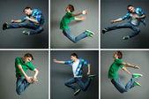 Man in jump — Stock Photo