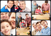Família alegre — Fotografia Stock