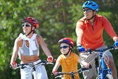 Reiten auf fahrrädern — Stockfoto