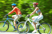 Cyclists in motion — Stock Photo