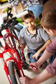 Bike repair service — Stock Photo