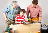 Young carpenter — Stock Photo