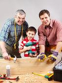 Family of carpenters — Stock Photo