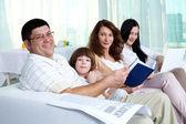 Friendly family — Stock fotografie