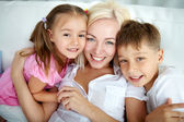 Mother and kids — Stock Photo