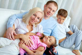 Family at leisure — Stock Photo