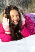 Under snowfall — Stock Photo