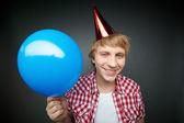 Boy with balloon — Stock Photo