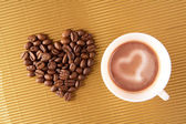 Love for coffee — 图库照片