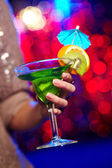 Girl with cocktail — Stock Photo
