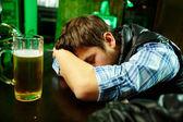 Sleeping in pub — Stock Photo