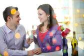 Walentynki w restauracji — Zdjęcie stockowe