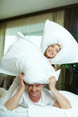 Pillow play — Foto de Stock