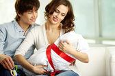 Holding baby — Stock Photo