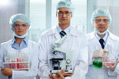 Serious scientists — Stock Photo