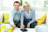 Contando il bilancio familiare — Foto Stock