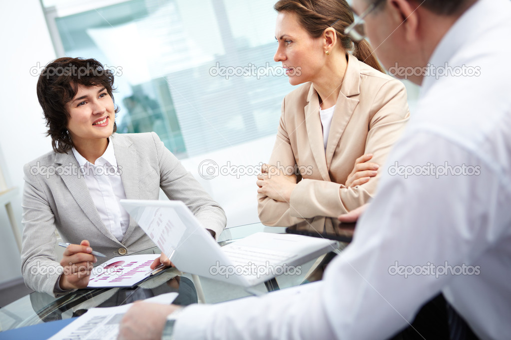 Business group working together in office — Stock Photo #10730768
