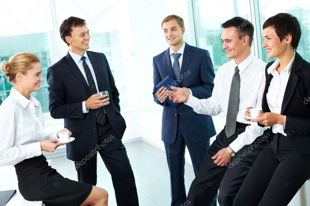 Business interacting with each other in semi-formal situation — Stock Photo #10730985