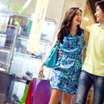 Shopping in full swing — Stock Photo