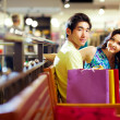 Shoppers at rest - Stock Photo